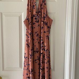 Express pink halter dress
